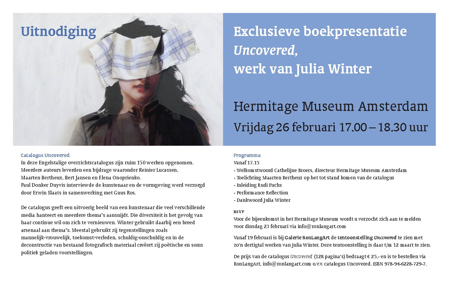 Uncovered book presentation at Hermitage museum